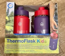 Thermo Kids 14 oz Stainless Steel Insulated Water Bottle BPA Free Straw Lid pink