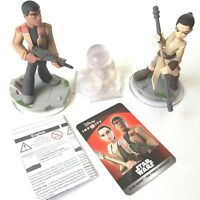 Star Wars Finn & Rey Disney Infinity 3.0 The Force Awakens Figures 4 pc Play Set