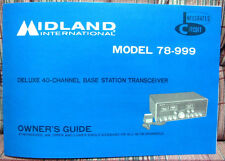 Vhtf Midland 78-999 Am/Ssb Transceiver Owners Manual with 5 Schematics! - Mint