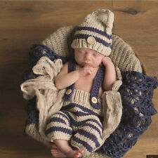 Newborn Baby Girls Boys Crochet Knit Costume Photo Photography Prop Outfit