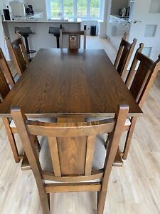 Old Charm Warwick Dining Table and Six chairs