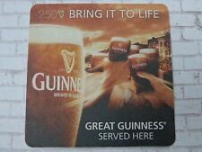 Beer Collectible Coaster <> GUINNESS Brewing Stout <> 250th Party Trip Giveaway