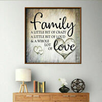 Full Drill 5D Diamond Painting Family Love Cross Stitch Embroidery DIY Decor