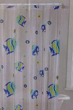 13 pc Igor Fishes Vinyl Shower Curtain & Hooks Set Nip