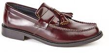 Roamers M900BD Men's Mod Style Oxblood Red Slip on Leather Tassel Loafers UK 9