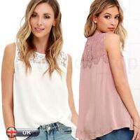 Fashion Women Tank Blouse Tops Summer Chiffon Shirt Sleeveless Vest T Shirt New