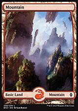 MTG MOUNTAIN #266 FOIL - MOUNTAIN FULL ART 2 - BFZ - MAGIC