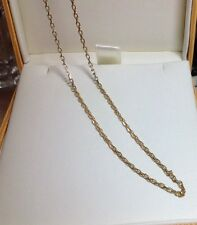 9 Carat Yellow Gold Chain 16 Inches Hallmarked English Made
