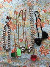 7 Items Party Funky Necklace Headband Ring Lot Bundle Hen 80's Fancy Dress Cubix