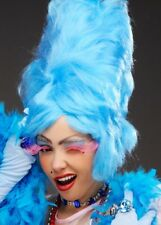 Tall Blue Beehive Pantomime Dame Wig