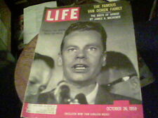 Life Oct 26, 1959 Charles Van Doren, James A Michener, Fred Astaire Errol Flynn