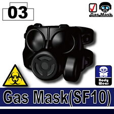 SF10 (W186) Army Gas Mask compatible with toy brick minifigures