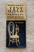 1968 Monterey Jazz Festival Ticket Brochure: Janis Joplin, Big Momma Thornton ++
