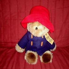 Vintage Eden PADDINGTON BEAR Brown Tan 15in Plush Blue Jacket Red Hat Tag 1981