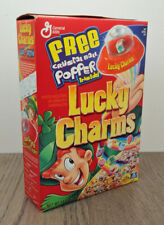 Vintage Lucky Charms Cereal w/Crystal Ball Popper 14 Oz Full Box Factory Sealed
