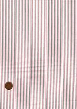 Poly-Cotton Fabric, Red Grey White Striped Patchwork Craft Bunting