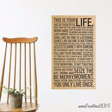 English Retro Wall Sticker Vintage Wall Poster Bedroom Background Decal Decor