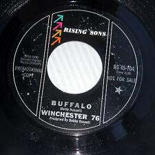 WINCHESTER 76 pop promo 45 BUFFALO b/w MYRA APPLEBY vg+ cond. RISING SONS  E9783