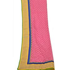 Tcw Vintage Dupatta Long Stole Net Mesh Pink Shawl Embroidered Wrap Veil