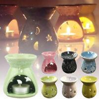 Ceramic Essential Oil Burner TeaLight Holder Aroma Diffuser Home Decor Censer UK