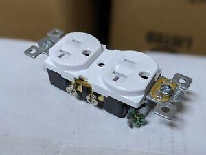 (10 pcs) NEW 20A Standard Duplex Receptacles 20 Amp WHITE Commercial Grade CR20