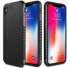 Shockproof Carbon Fiber Case+Tempered Glass Cover For iPhone XS Max XR X 678Plus