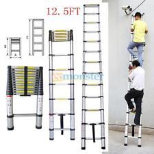 12.5FT Telescoping Telescopic Extension Ladder Portable Aluminum Multi Purpose