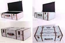 Set 2 Holzkoffer Oldtimer Koffer Kinderkoffer beschriftet / 2 Größen / M u. L