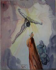 SALVADOR DALI (d'après) : Apparition du Christ # SERIGRAPHIE PORCELAINE # 490ex