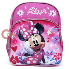 """Disney Minnie Mouse Toddler Backpack 10"""" Girls Pink Mini School Book Bag"""