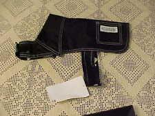 Dog Clothes  Rain Coat Size 12 Urban Diggs By Ruffin It Black Dot Print USA New