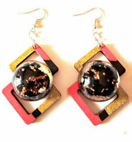 earrings orgone  Shungite, copper, crystals, natural wood, chakras, reiki, yoga