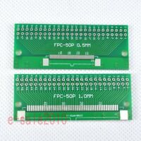 5pcs FFC/FPC 50 Pin 1mm 0.5mm to 2.54mm DIP PCB Board Converter Double Side F89