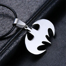Fashion Unisex Bat/Batman Silver Stainless Steel Pendant/ Necklace