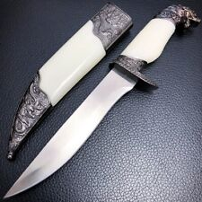 Hunting Wildlife Dagger Fixed Blade Animal Head Pommel Fantasy Knife Dragon New