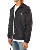 Men's RVCA ANP Coaches Black Spray Windcheater Jacket - Size L. NWT, RRP$119.99.