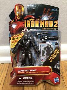 """Iron Man 2 Movie Series War Machine 4"""" Figure #12 James Rhodes Marvel Universe"""