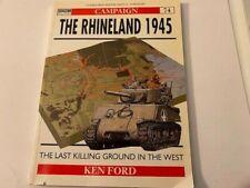 THE RHINELAND 1945 Osprey Military Book #74 UK Rare - 2000!