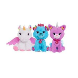 Barbie 7-inch 3- Piece Pet Bean Plush Set Includes Unicorn, Unicorn Kitty, & Pri