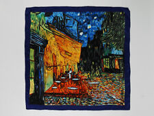 "Large Square Silk Scarf 36x36"" (90x90cm) Blue  Theme Classic Painting SZD008"