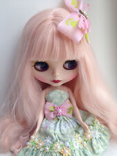 Discount!! Neo Blythe Nude Doll From Factory Blythe Custom Matte Face Pink Wig