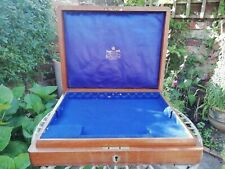 Antique Vintage Mappin & Webb Cutlery Display Box Oak With Lift Out Tray