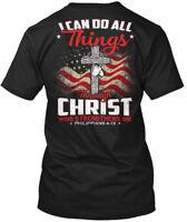 Veteran! - I Can Do All Things Through Christ Who Hanes Tagless Tee T-Shirt