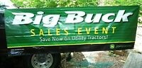 Used John Deere Banner Sign Big 7Ft 10 by 33 IN Sales Event Utility Tractor