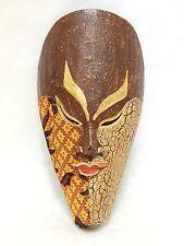 "Wooden African Mask Tiki Mask Tribal Bali Wall Decor Art Mask 10"" #N2750"