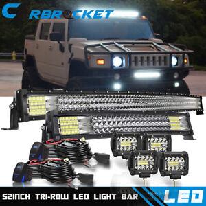 GTP Amber//White 12 LED Strobe Yellow Light Bar For Chevy Ford Dodge Truck Pickup