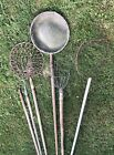 6 Chesapeake Bay Antique Watermen Tools of Trade-Crabbing/Catchers/Oysters 6'L