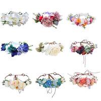 Women's Hair Wreath Wedding Flower Headband Garland Bride Crown Hair Accessories