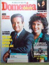 La Domenica del Corriere 20 Dicembre 1986 Muti Scientology Duran Duran Rispoli