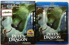 DISNEY PETES DRAGON 2016 BLU RAY DVD 2 DISC SET + SLIPCOVER SLEEVE FREE SHIPPING